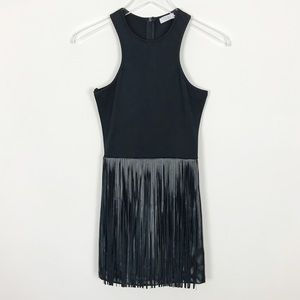 TOBI Black Mini Tassel Fringe Festival Tank Dress